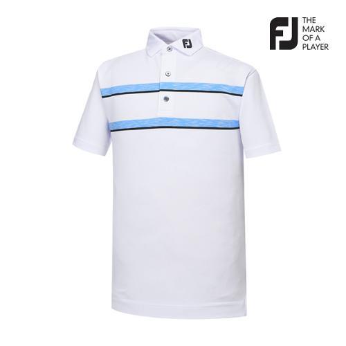 [풋조이] 남성 컬러블럭 스트라이프 티셔츠(91917)_GA