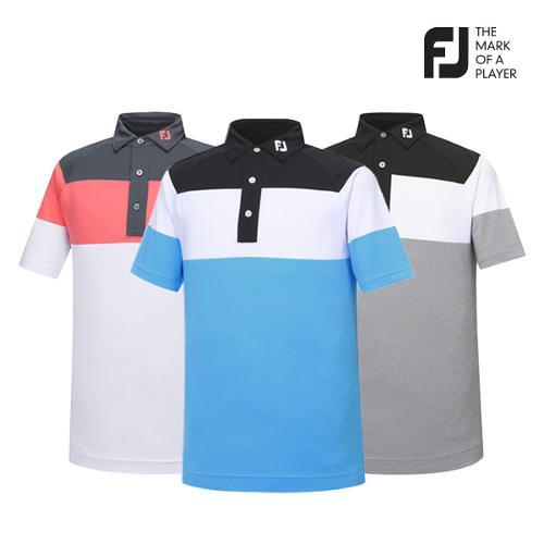 [풋조이] 남성 컬러블럭 패턴 티셔츠 3종 택1_GA