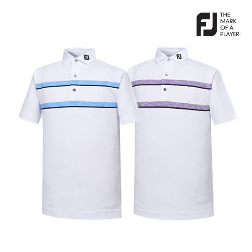 [풋조이] 남성 컬러블럭 스트라이프 티셔츠 2종 택1_GA