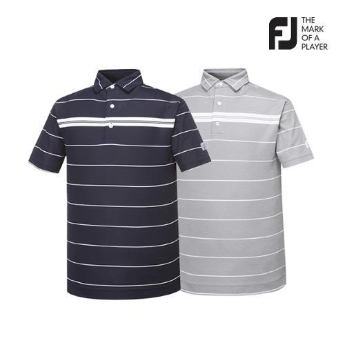 [풋조이] 남성 스트라이프 패턴 티셔츠 2종 택1_GA