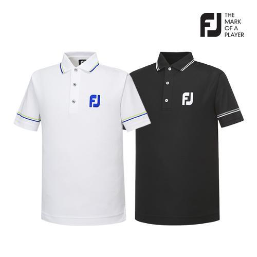 [풋조이] 남성 라인배색 스트라이프 티셔츠 2종 택1_GA