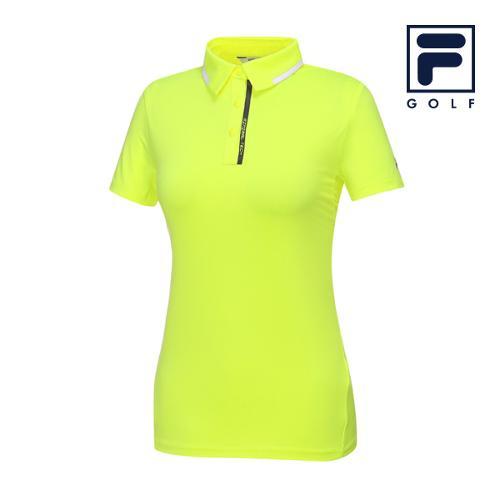 [FILA GOLF] 여성 라인배색 카라넥 반팔티셔츠 FG2TSA2201F-LEN_GA