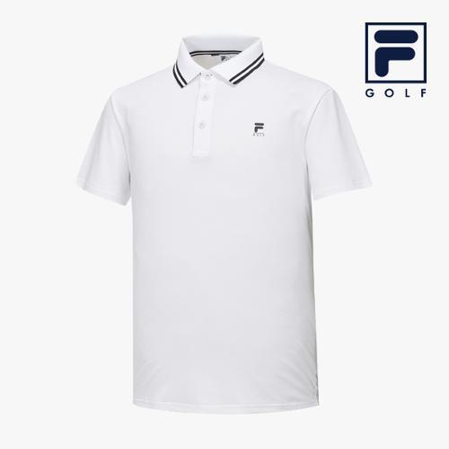 [FILA GOLF] 남성 카라라인배색 반팔티셔츠 FG2TSA2257M-WHI_GA