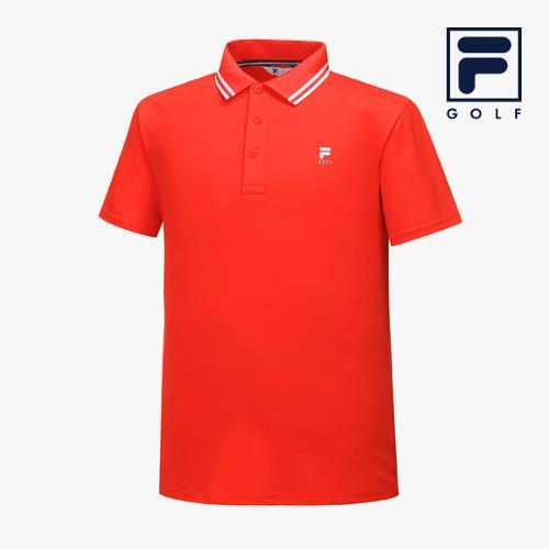 [FILA GOLF] 남성 카라라인배색 반팔티셔츠 FG2TSA2257M-RED_GA