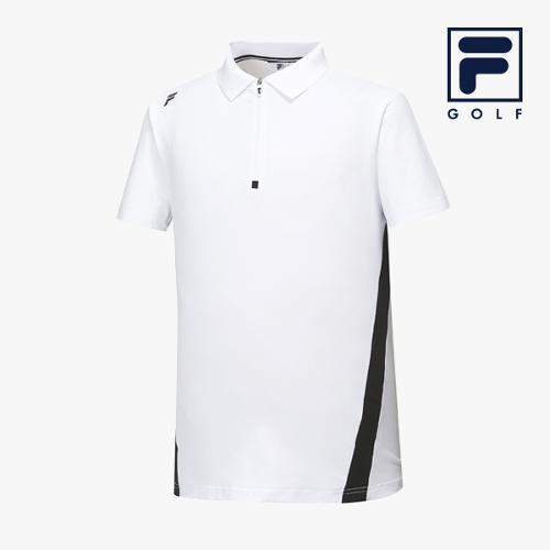 [FILA GOLF] 남성 사선배색 카라넥 반팔티셔츠 FG2TSA2204M-WHI_GA