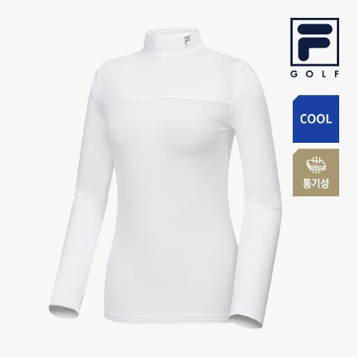 [FILA GOLF] 여성 배색포인트 냉감성 하프넥 베이스레이어 FG2IWA2202F-WHI_GA