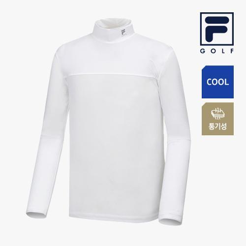 [FILA GOLF] 남성 배색포인트 냉감성 하프넥 베이스레이어 FG2IWA2202M-WHI_GA