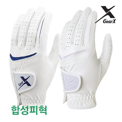 [기어엑스] 골프장갑-남자 여성 합성피혁 흰색 1장