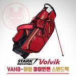 [2018년신제품-한정판]볼빅 골프 VAHB-마블 아이언맨 폴레에스터원단 9인치 스탠드백(레드)