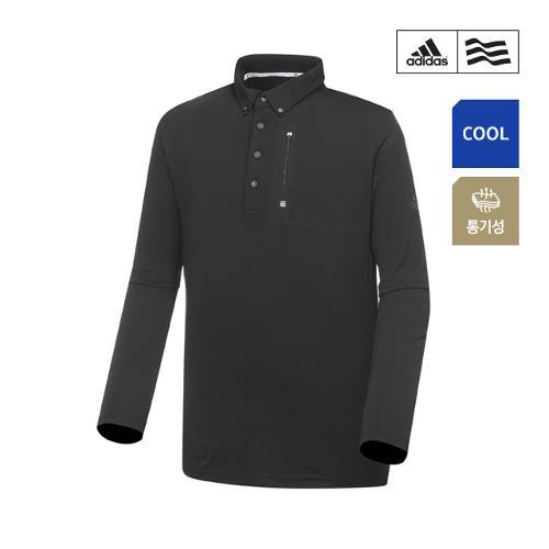 [아디다스골프] 남성 클라이마쿨 웰딩포켓 폴로 긴팔 티셔츠 CZ1502_GA