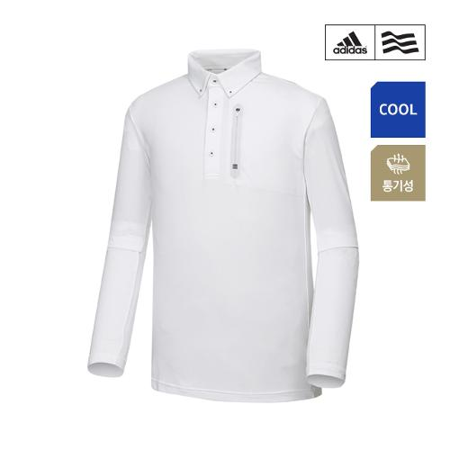 [아디다스골프] 남성 클라이마쿨 웰딩포켓 폴로 긴팔 티셔츠 CZ1501_GA