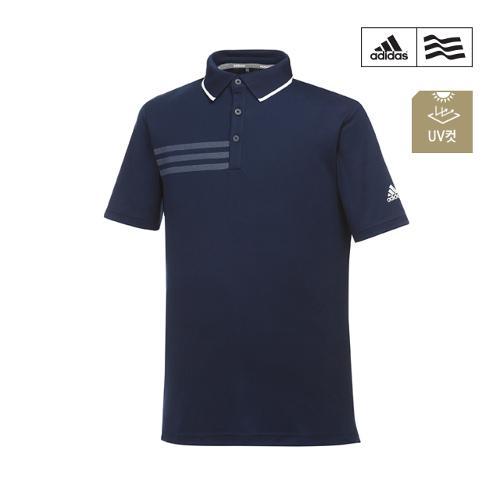 [아디다스골프] 남성 삼선프린트 폴로 티셔츠 CF9334_GA