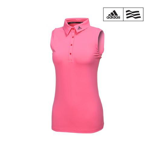 [아디다스골프] 여성 클라이마쿨 슬리브리스 폴로 티셔츠 BC3210_GA