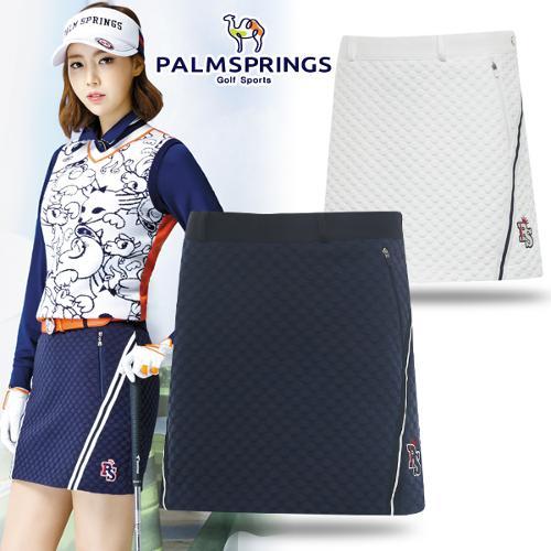 [팜스프링] 폴리혼방 도트 엠보싱 패턴 여성 골프 큐롯/골프웨어_238812