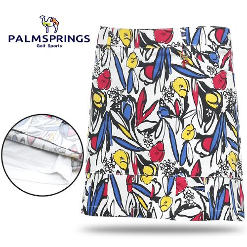 [팜스프링스] 면스판 컬러풀 일러스트 패턴 여성 골프큐롯/골프웨어_238548