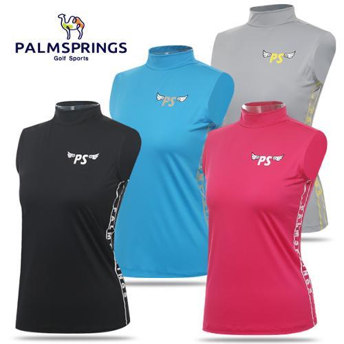 [팜스프링스] 스판 큐티 로고 프린팅 여성 민소매 티셔츠/골프웨어_238667