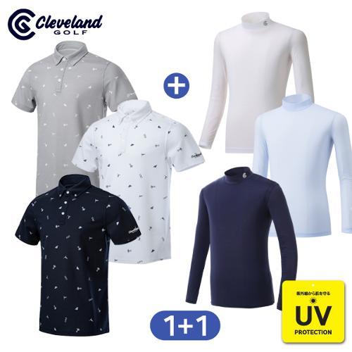 [클리브랜드골프] FUN아이콘 남성 반팔티셔츠 + UV차단 냉감 이너웨어/골프웨어_CG237023