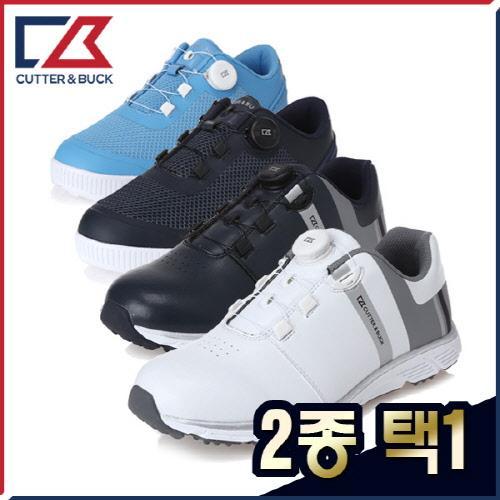 커터앤벅 남성 최고급 스니커즈 스파이크리스 골프화 2종 택1