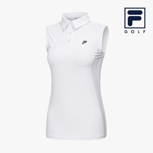 [FILA GOLF] 여성 사이드그래픽 카라넥 민소매 티셔츠 FG2TSA2211F-WHI_GA