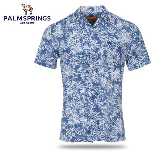 [팜스프링스] COOL 트로피칼 프링팅 남성 카라넥 반팔 셔츠/골프웨어_239124