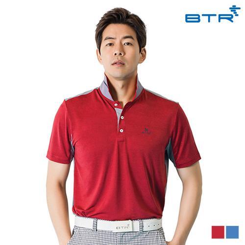 BTR 솔리드원단 반팔 카라 티셔츠 로조(남) BOT4861M