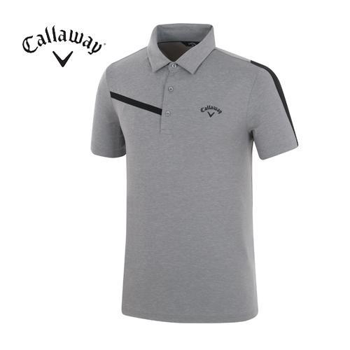 [캘러웨이]18SS 남성 소매 배색 메쉬 티셔츠 CMTYH2158-190