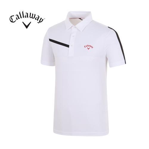 [캘러웨이]18SS 남성 소매 배색 메쉬 티셔츠 CMTYH2158-100