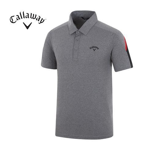 [캘러웨이]18SS 남성 피케이 소매 배색 티셔츠 CMTYH2153-190