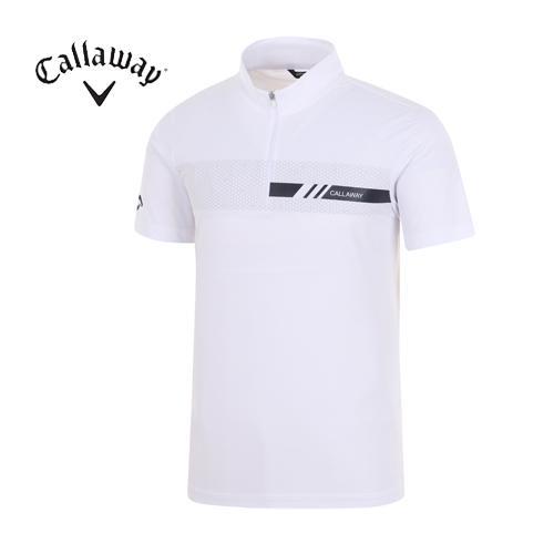 [캘러웨이]18SS 남성 육각형 도형패턴 티셔츠 CMTHH2108-100
