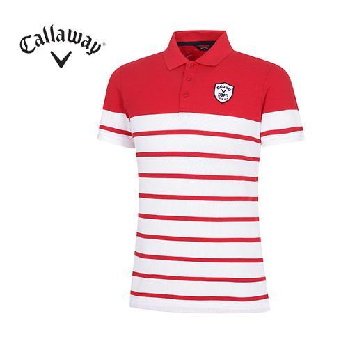 [캘러웨이]남성 스트라이프 카라 반팔 티셔츠 CMTPG2108-500