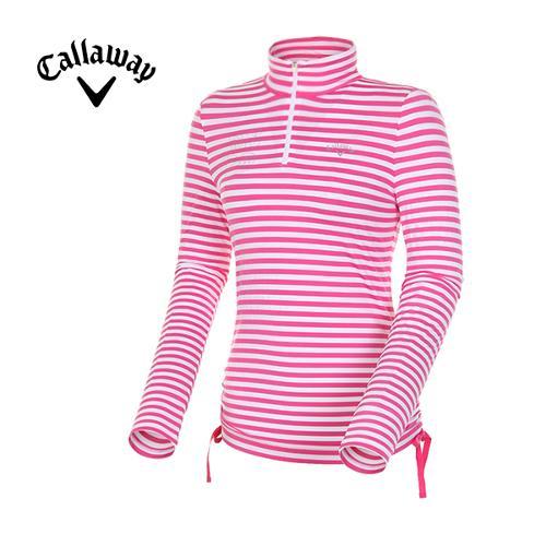 [캘러웨이]여성 스트라이프 집업 티셔츠 CWTHD5112-403