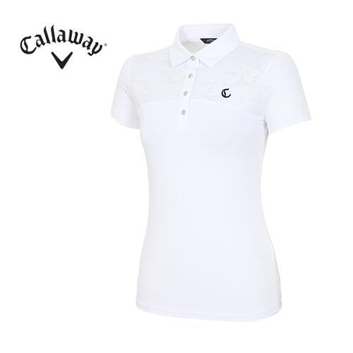 [캘러웨이]18SS 여성 패턴 포인트 티셔츠 CWTYH6172-100