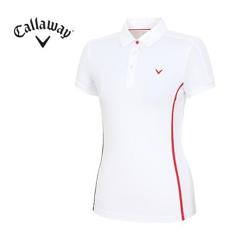 [캘러웨이]18SS 여성 심플라인 포인트 티셔츠 CWTYH6153-100