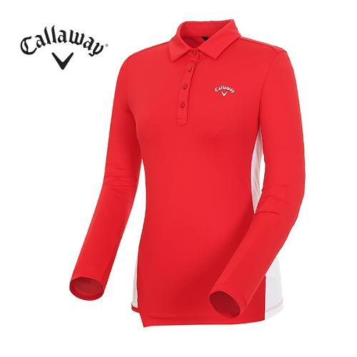[캘러웨이]18SS 여성 컬러 배색 티셔츠 CWTYH5104-500