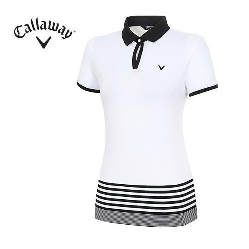 [캘러웨이]18SS 여성 에리, 밑단 포인트 티셔츠 CWTPH6104-100