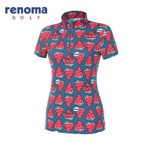 [레노마골프]18SS 여성 워터메론 반집업 티셔츠 RWTHH6129-904