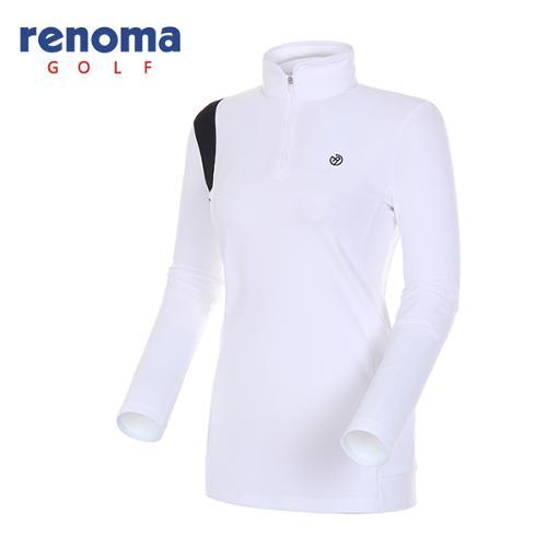 [레노마골프]18SS 여성 기능성 반집업 롱 티셔츠 RWTHH5112-100