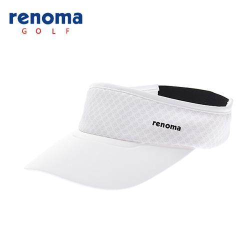 [레노마골프]18SS 여성 로고 패턴 썬바이저 모자 RWACH6801-100