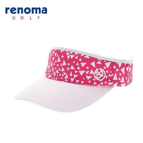 [레노마골프]18SS 여성 유니크 패턴 썬바이저 모자 RWACH5807-430
