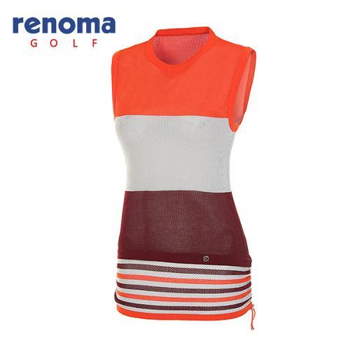[레노마골프]여성 컬러 블록 메쉬 니트 베스트 RAKV72531-DO