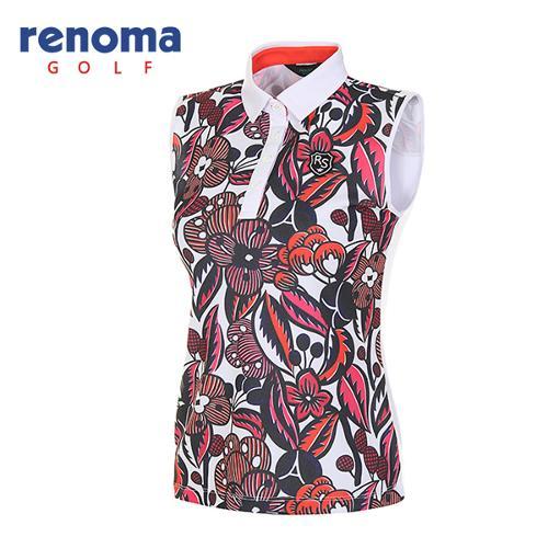 [레노마골프]여성 보테니컬 슬리브리스 티셔츠 RATS7E631-DO