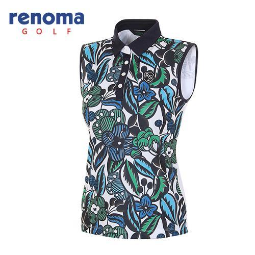 [레노마골프]여성 보테니컬 슬리브리스 티셔츠 RATS7E631-DE