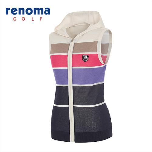 [레노마골프]여성 블록 슬리브리스 후드 스웨터 RAKV73531-BE