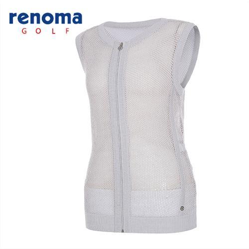 [레노마골프]여성 글리터 메쉬 집업 스웨터 RAKV71531-GR