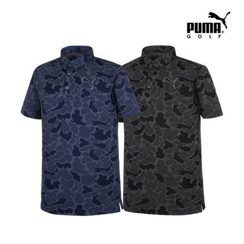 [푸마골프] 남성 쟈가드 카모플라쥬 PK 반팔 티셔츠 2종 택1_GA