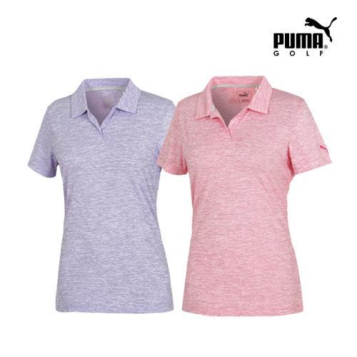 [푸마골프] 여성 Space Dye PK 반팔 티셔츠 2종 택1_GA