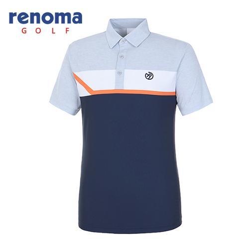 [레노마골프]18SS 남성 사이드 메쉬 컬러 티셔츠 RMTYH2114-193