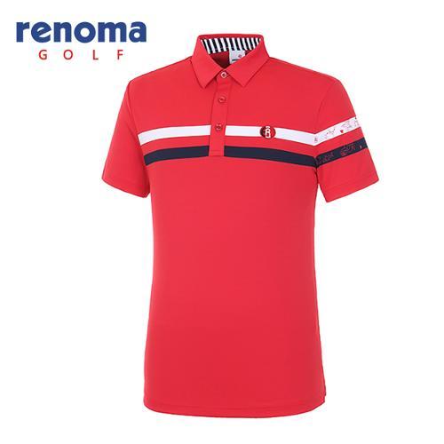 [레노마골프]18SS 남성 바다 배색 반팔 티셔츠  RMTYH2104-500