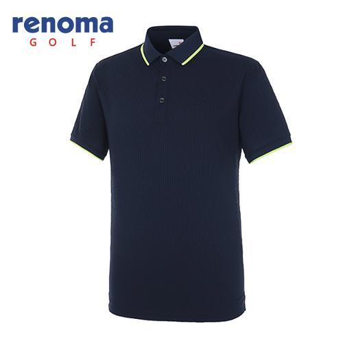 [레노마골프]18SS 남성 시어서커 반팔 티셔츠 RMTPH2133-915