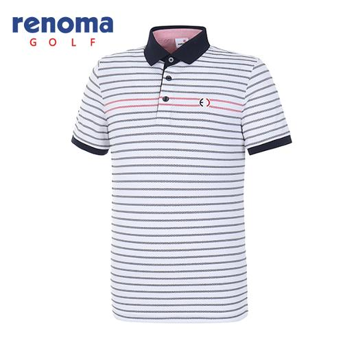 [레노마골프]18SS 남성 배색 반팔 티셔츠 RMTPH2105-100